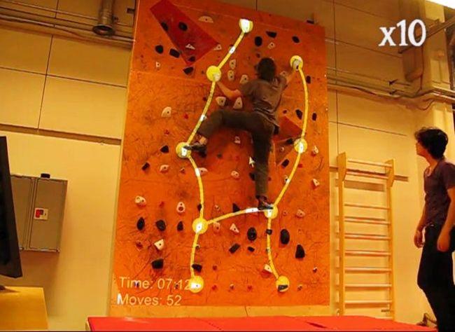 Augmented Reality meets Climbing. Sozusagen. (Foto: Vimeo)