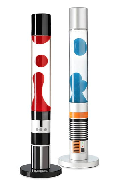 """Lavalampen, die aussehen wie Laserschwerter aus """"Star Wars"""" - ein absoluter Hingucker. (Foto: ThinkGeek.com)"""