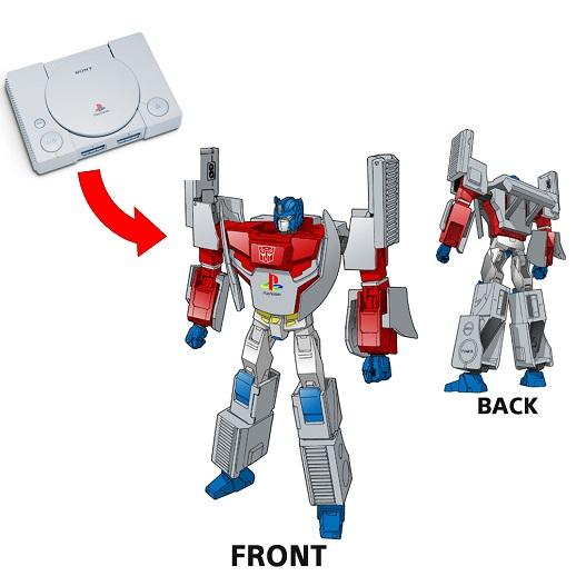 Transformers trifft auf PlayStation? Oder anders herum. (Foto: Takara Tomy)