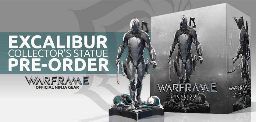Die Limited Edition Excalibur Statue (Foto: Warframe.com)