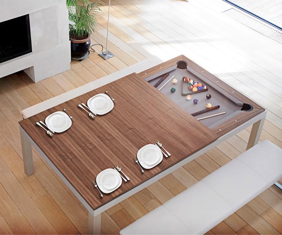 Ess- und Billiardtisch in einem (Foto: fusiontables.com)