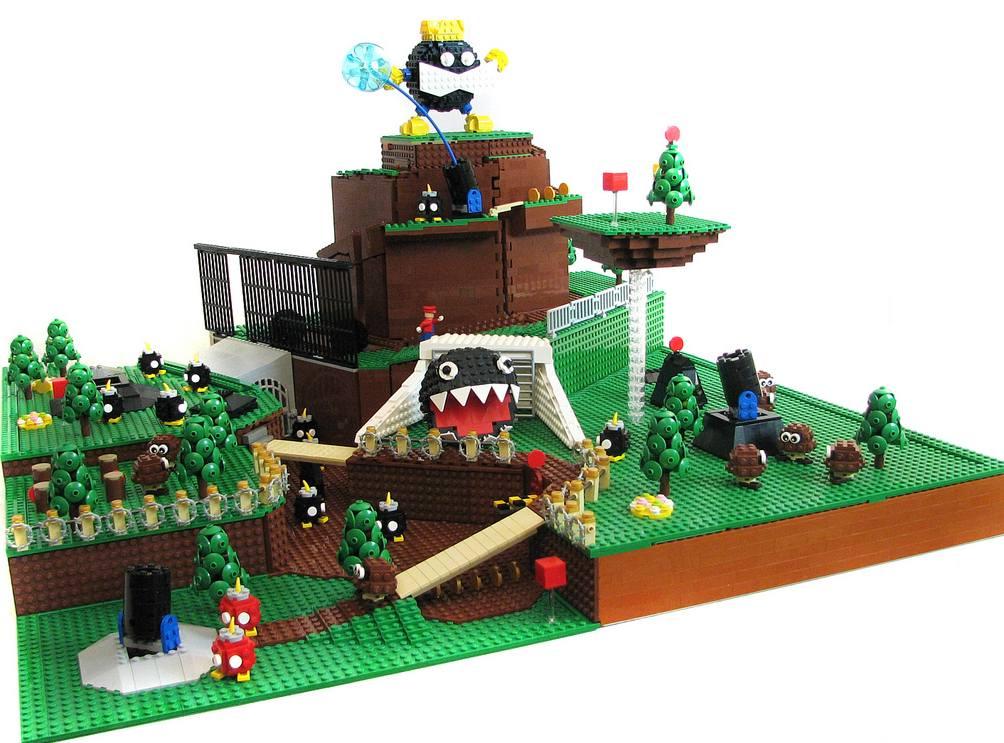 Bob omb Battlefield Szene Aus Mario 64 Mit LEGO Nachgestellt