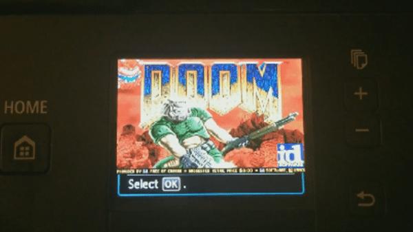 Doom auf dem Canon-Drucker? Nun, wieso auch nicht? (Foto: contextis.co.uk)