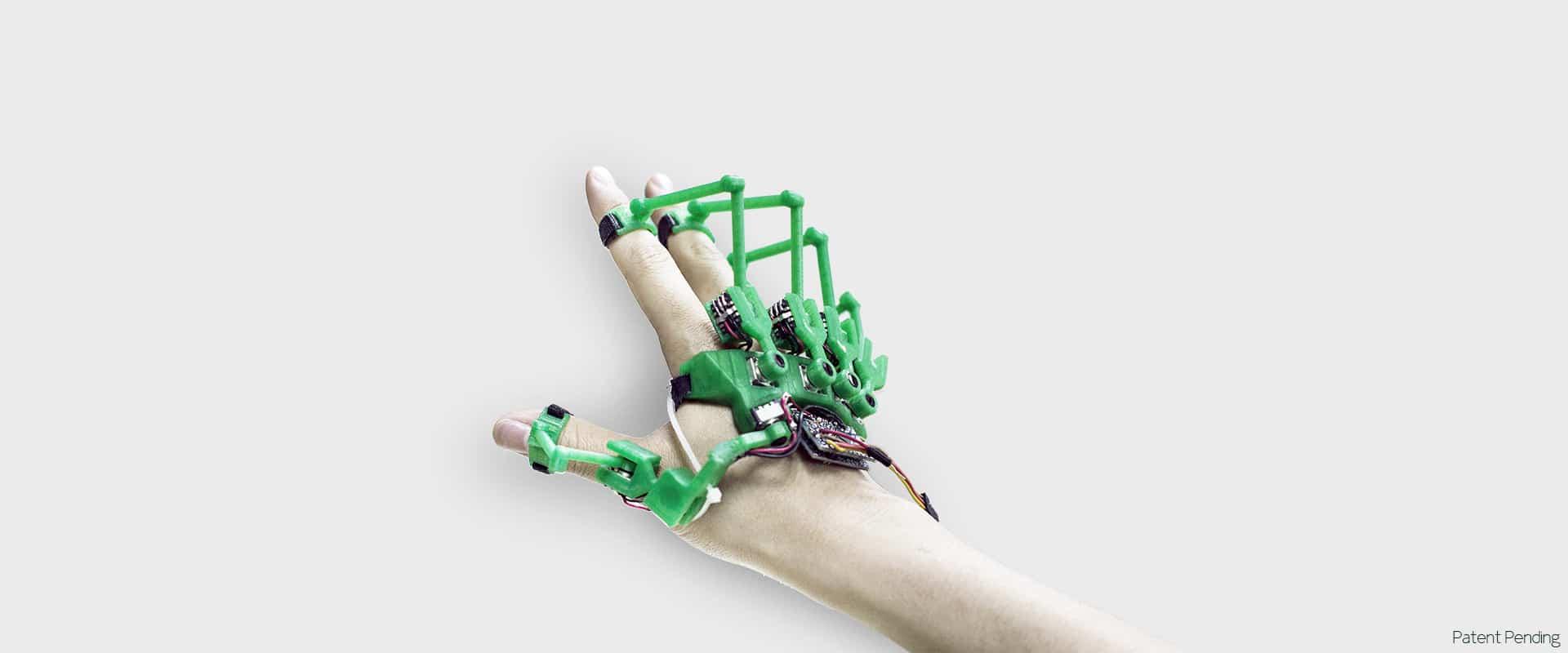 Eine neue Art der Steuerung in virtuellen Welten? (Foto: Dextra Robotics)