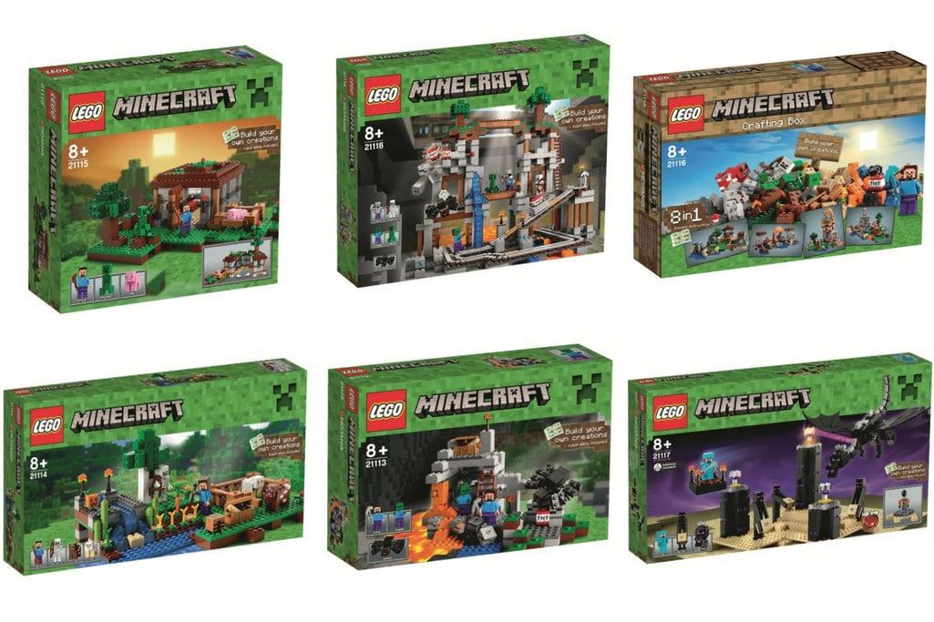Sechs LEGO Minecraft-Boxen sind wohl geplant. (Foto: Verge)