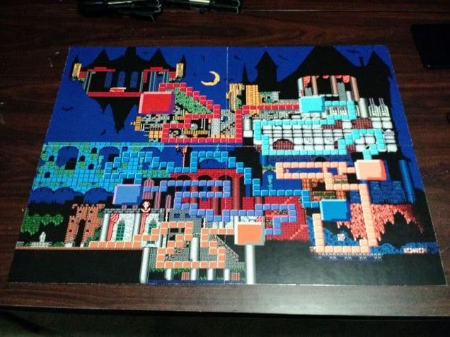 Das Spielfeld von dem Castlevania-Brettspiel. (Foto: imgur)