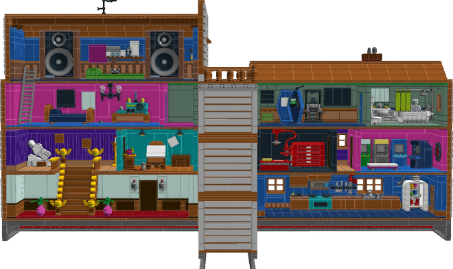Die Alternative: Das gesamte Anwesen aus Maniac Mansion aus LEGO. (Foto: LEGO Ideas)