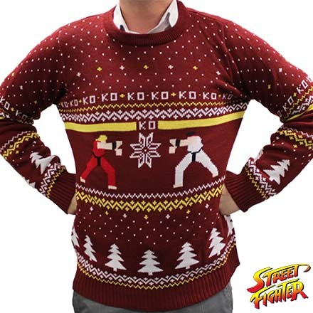 Christmas Jumper: Street Fighter. (Foto: Funstock)