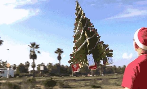 Ein fliegender Baum? (Foto: Youtube)