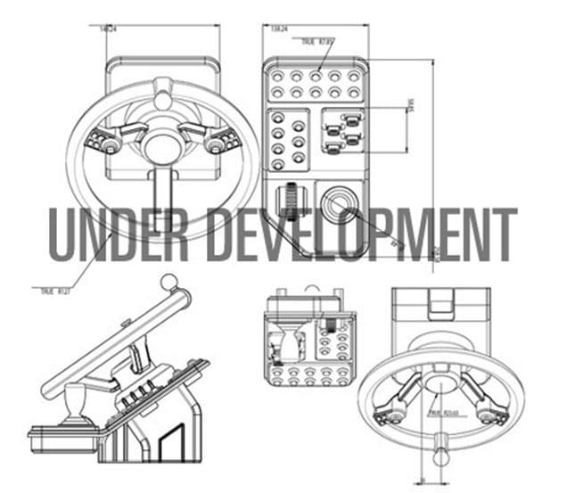 Der frühe Entwurf - so soll der Controller aussehen. (Foto: Saitek)