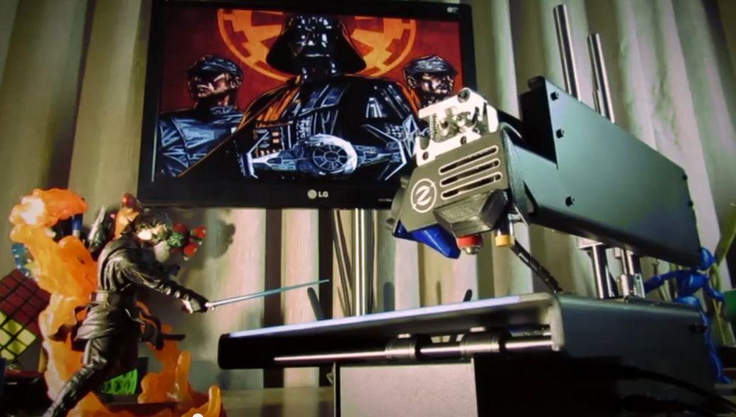 Star Wars aus dem Drucker? (Foto: Youtube)
