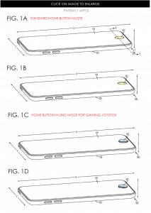 Bei Bedarf wird er nach außen geschoben. Wie das technisch funktioniert? Vermutlich über einen Feder-Mechanismus. (Foto: patentlyapple.com)