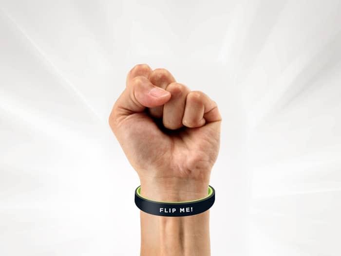 Gag oder Gadget? Das Flip Band (Foto: Kickstarter)