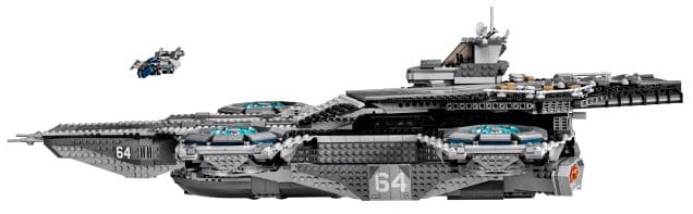 lego shield helicarrier fliegender flugzeugtr ger aus fast 3000 teilen. Black Bedroom Furniture Sets. Home Design Ideas