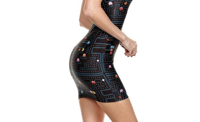 Hihi. Pac-Man auf dem Kleid. (Foto: poprageous)
