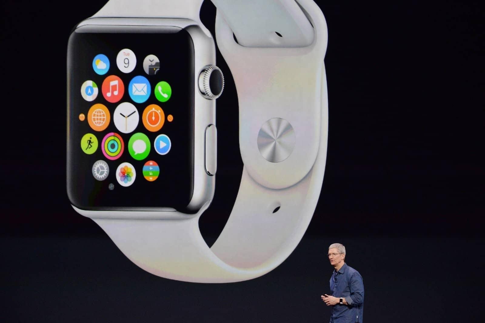 Tim Cook präsentiert das kommende Apple-Produkt (Foto: Web.de)