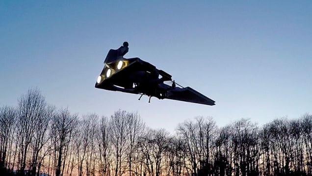 Der Sternenzerstörer basiert auf einem Quadrocopter. (Foto: Screenshot)