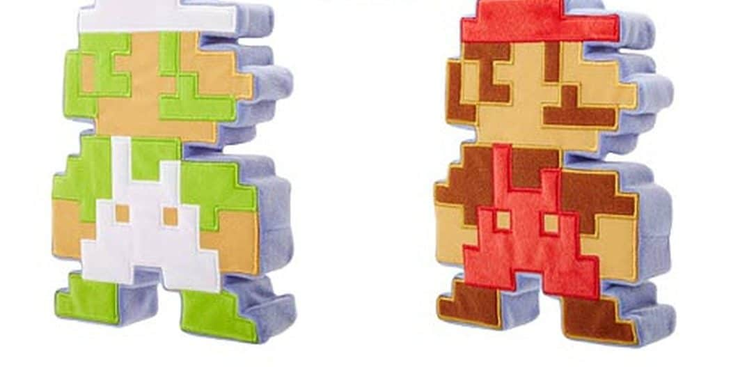 Mario und Co. als Pixel-Kissen. (Foto: Entertainment Earth)