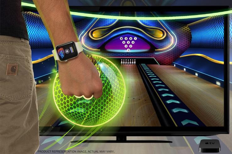 Bowling mit der Smartwatch von Apple. (Foto: Rolocule)