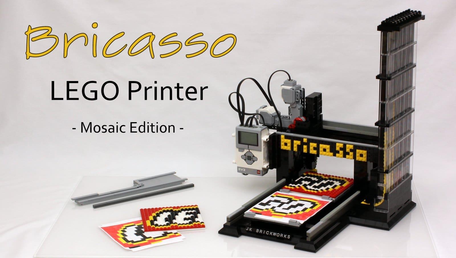 Ein Drucker aus LEGO-Teilen, der wirklich funktioniert. (Foto: jkbrickworks)