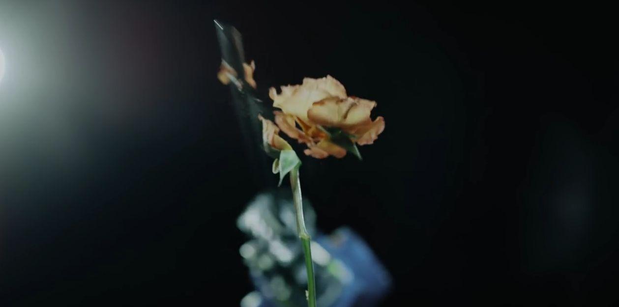 Roboter tötet Blume. Bezeichnend. (Foto: Screenshot)