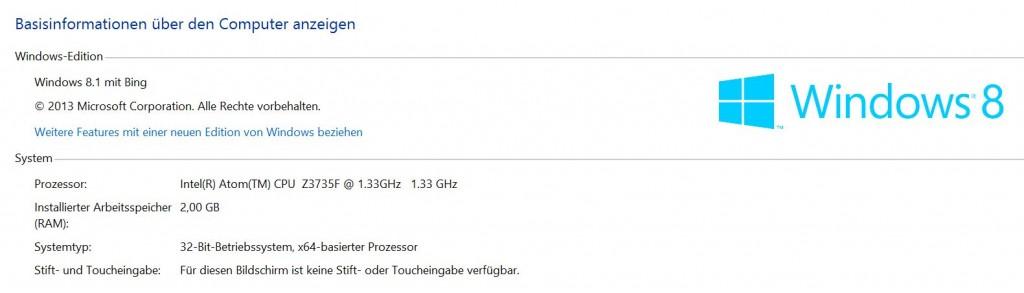 Seltsame Standard-Namen und 32bit-Betriebssystem. (Foto: Sven Wernicke)