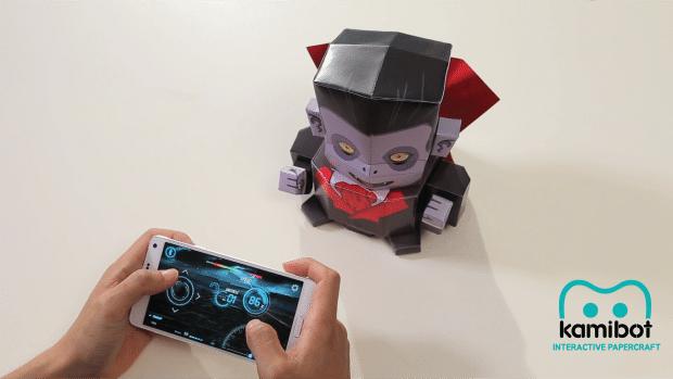 Ja, das ist ein Roboter aus Papier. (Foto: KamiBot)