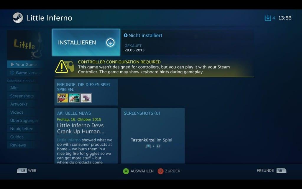 Ein Spiel ist nicht auf den Controller ausgelegt? Nicht so schlimm. (Foto: GamingGadgets.de / Screenshot)