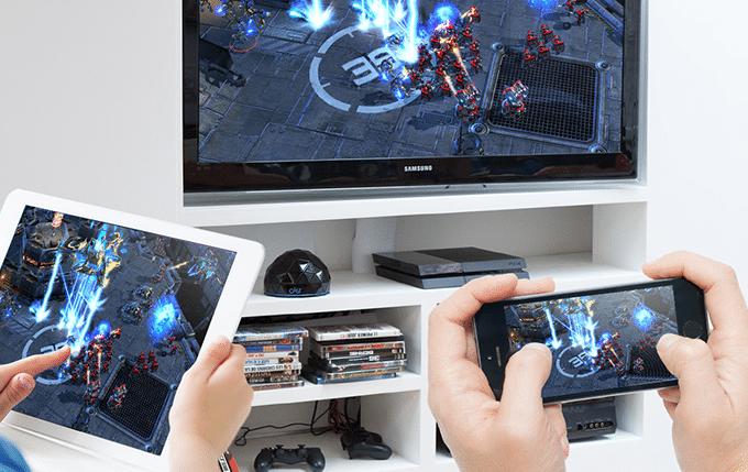 Mobile Spiele auf dem großen HDTV zocken. (Foto: Genii)