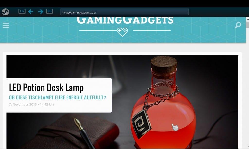 Der Browser von Steam Link. (Foto: GamingGadgets.de / Screenshot)