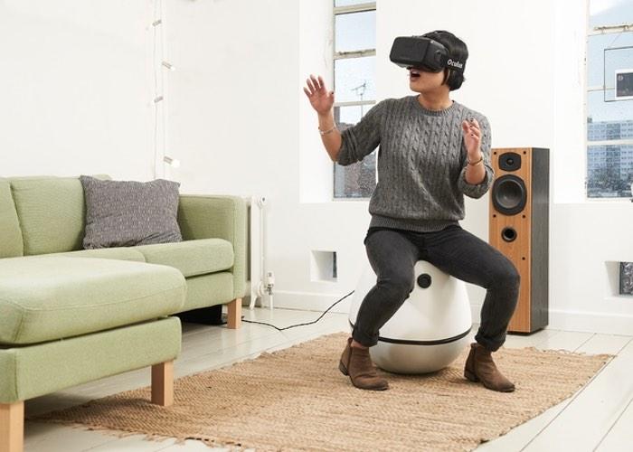 Ein Stuhl für VR. (Foto: Joe Ryan)