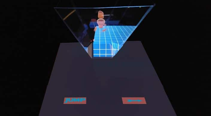 Das Telefon wird zur Hologramm-Konsole. (Foto: Armarni Vashi)