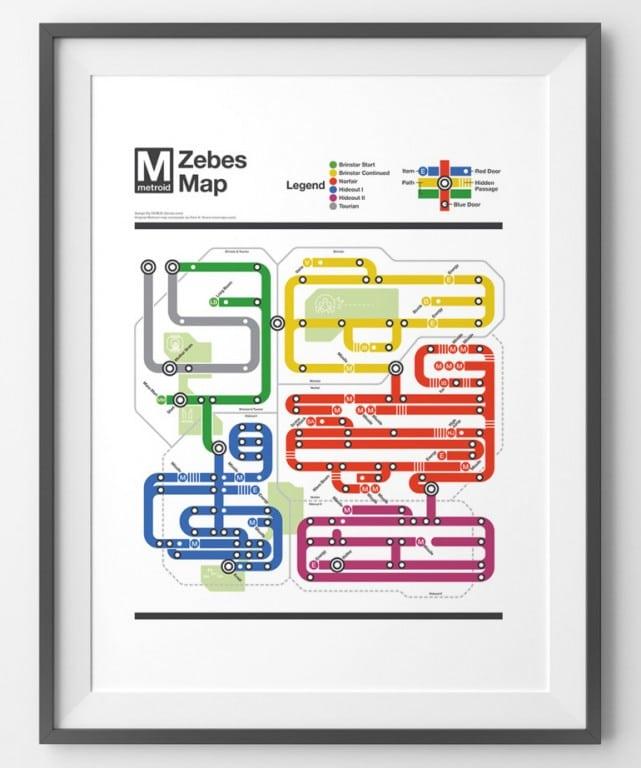 So hätte die Metroid-Karte auch aussehen können. (Foto: Matthew Stevenson)