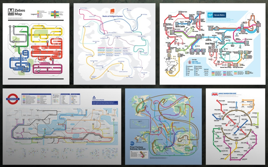 U-Bahn-Netze oder Videospiel-Karten? (Foto: Matthew Stevenson)