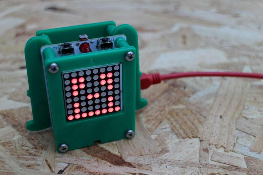 Eine LED-Matrix lädt zum Experimentieren ein. (Foto: Circuitbeard)