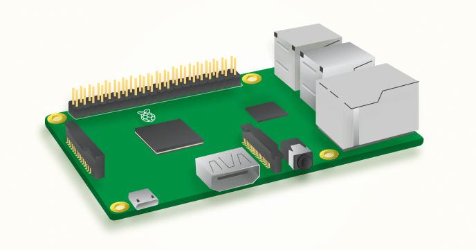 Der Aufbau des Pi 3. (Foto: Raspberry Pi Foundation)