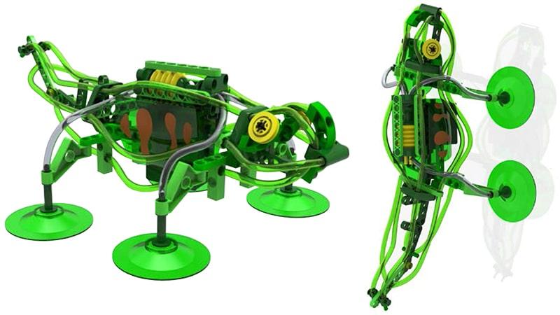 Ein ungewöhnlicher, mechanischer Roboter. (Foto: Thames & Kosmos)