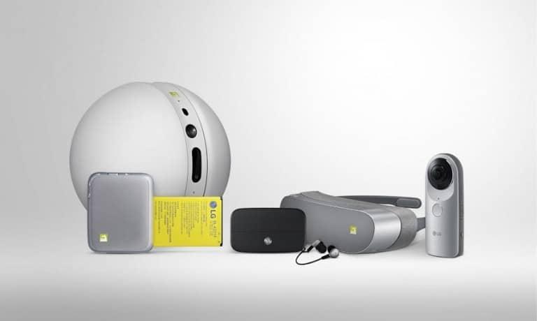 Spielzeug und Zubehör. Ach, und das LG G5. (Foto: LG)