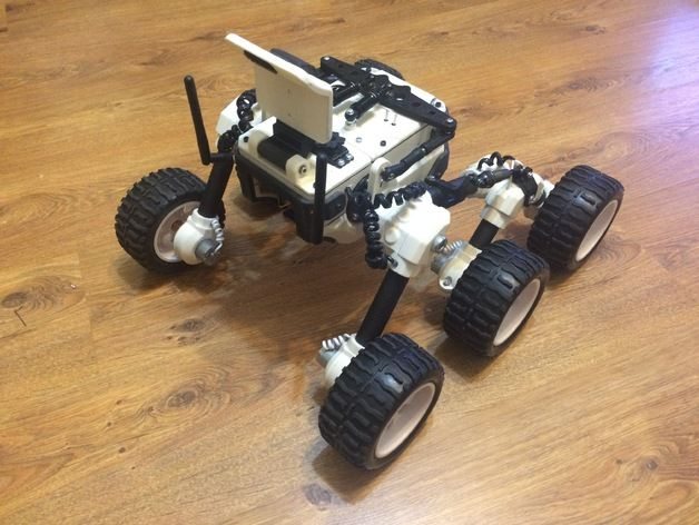 diy mars rover ferngesteuertes spinnenfahrzeug aus dem 3d drucker. Black Bedroom Furniture Sets. Home Design Ideas