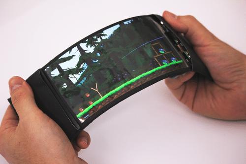 Angry Birds spielen, indem ihr den Bildschirm verbiegt? Interessant. (Foto: Human Media Lab)