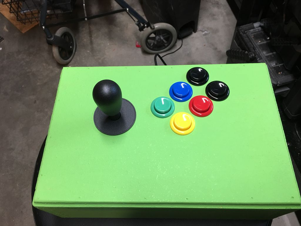 DIY-Arcade-Stick für SNES-Games. (Foto: Instructables)
