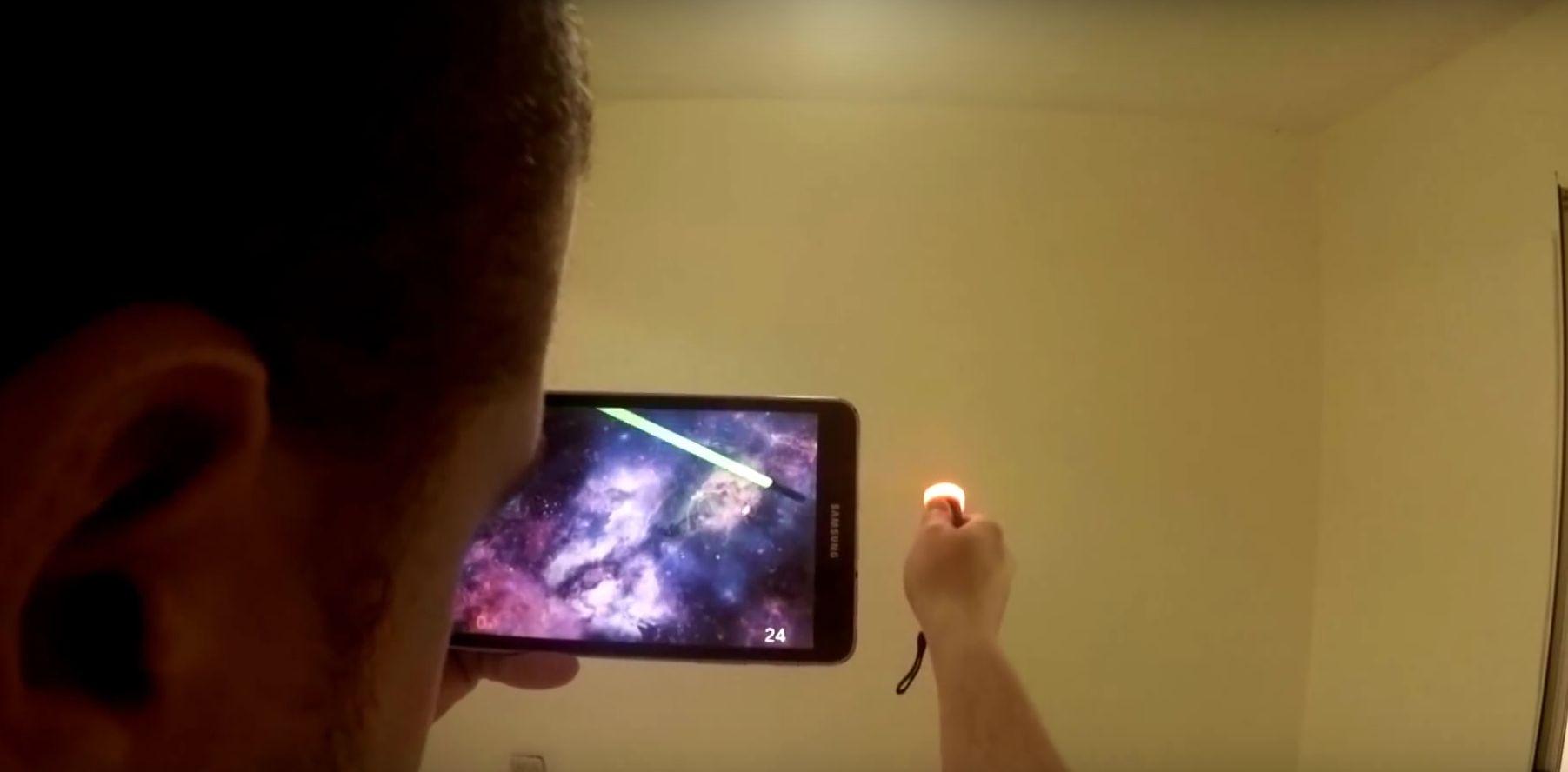 Ja, das ist eine Taschenlampe. (Foto: Screenshot)