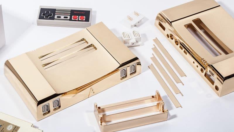 Jedes Aluminium-Teil besitzt eine Gold-Verzierung. (Foto: Analogue Interactive)