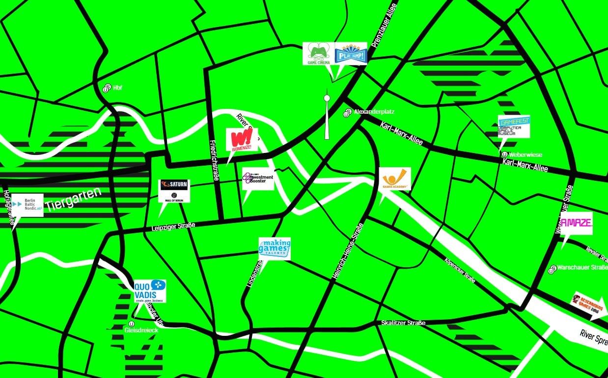 Viele Austragungsorte in der Stadt. (Foto: International Games Week Berlin)