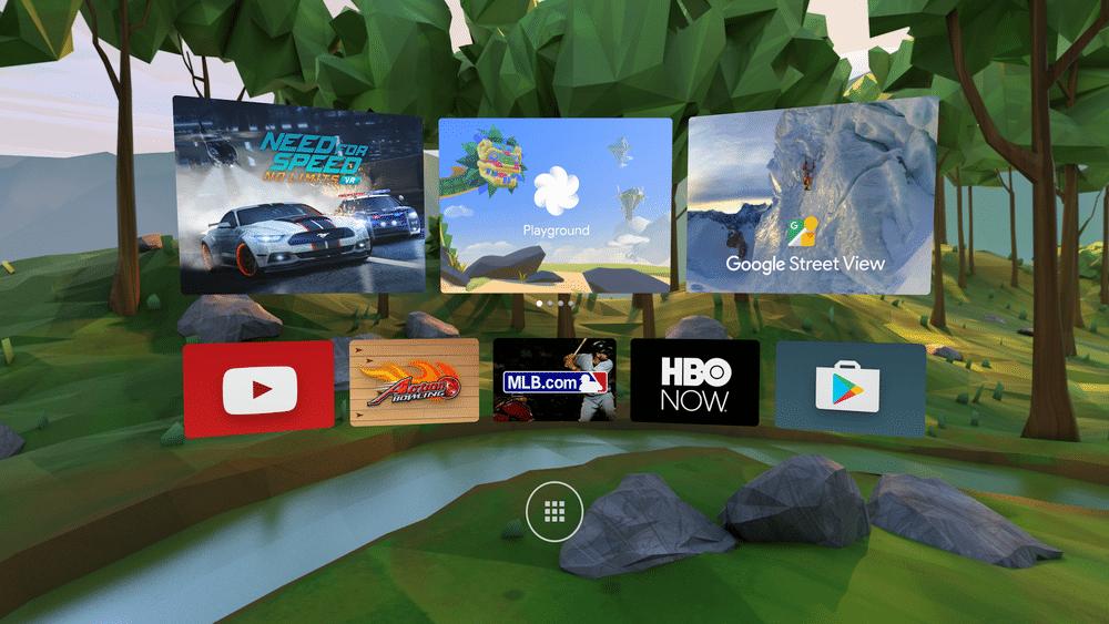 Daydream wird Bestandteil von Android N. Hier zu sehen ist die Oberfläche. (Foto: Google)