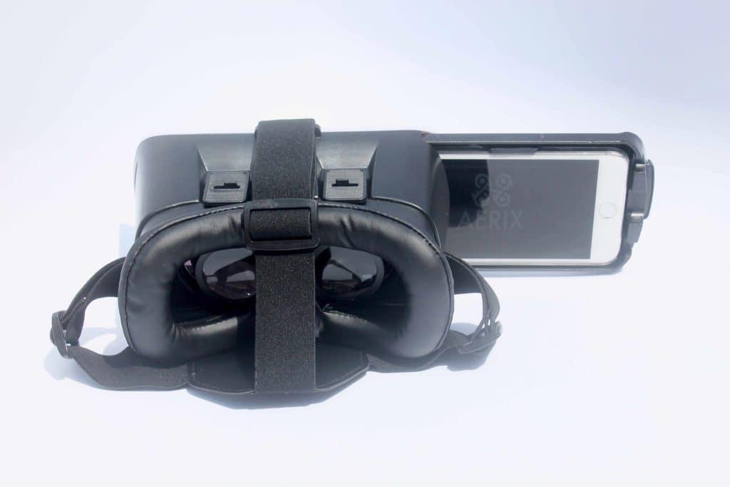 Die VR-Brille sieht qualitativ gut aus. (Foto: Aerix)