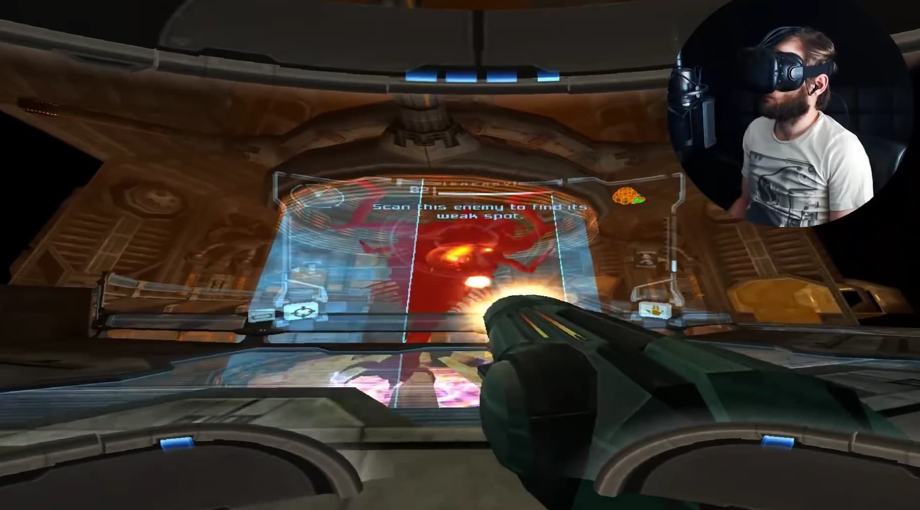 Metroid Prime mit der VR-Brille. (Foto: Screenshot)