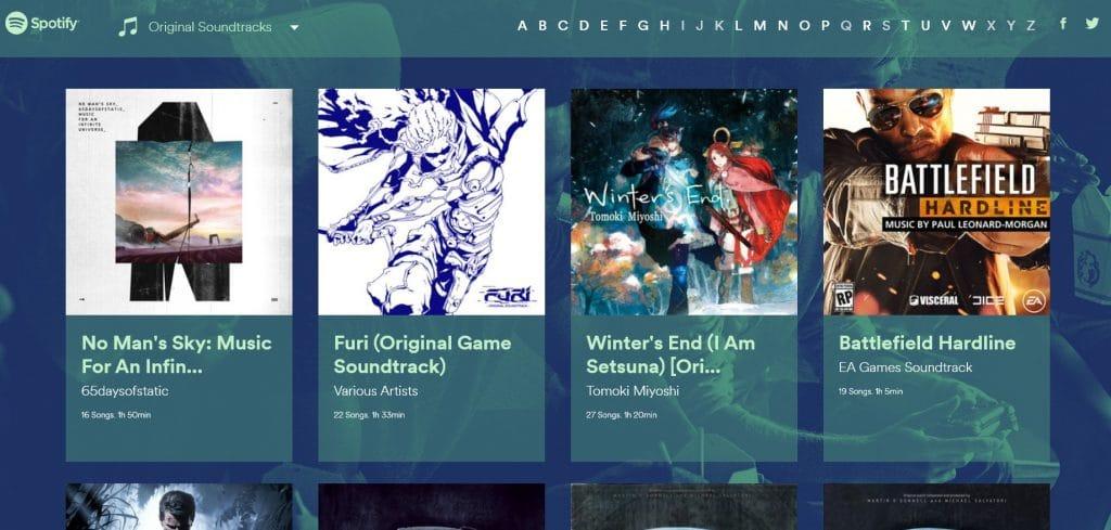 Online und in der App verfügbar. (Foto: Screenshot / Spotify Gaming)