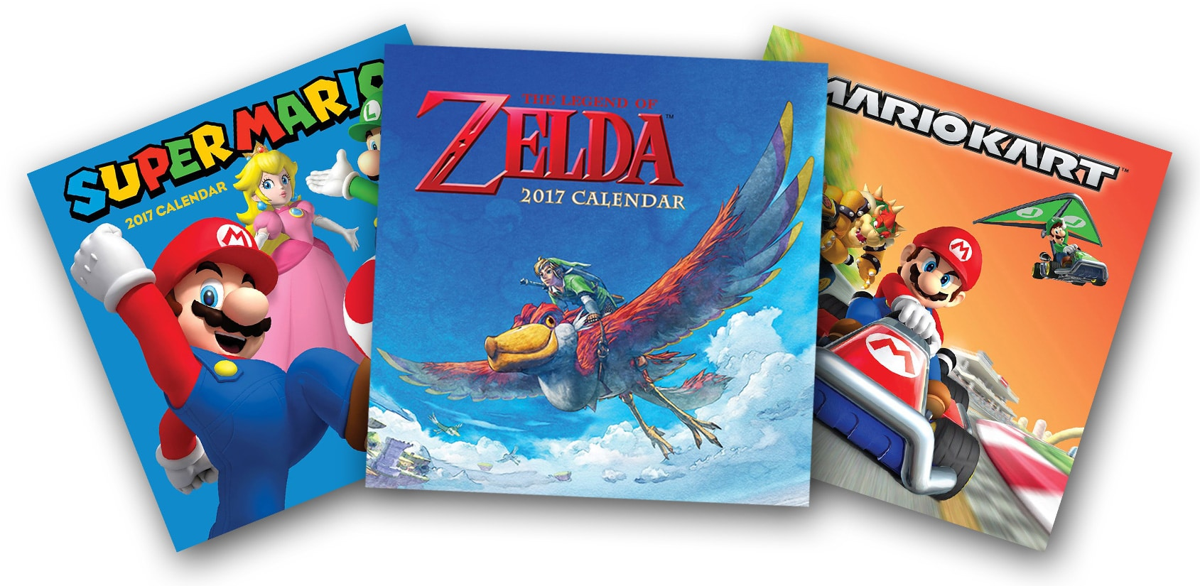 Nintendo: Super Mario Bros. und The Legend of Zelda als Kalender