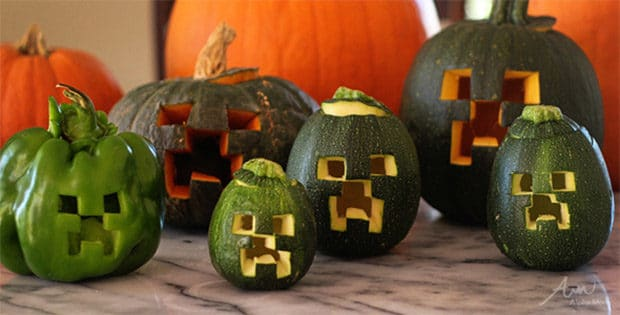 Minecraft Creeper Halloween Horror Aus Gemüse